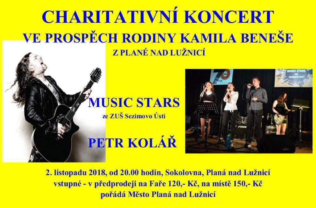 Charitativní koncert ve prospěch rodiny Kamila Beneše